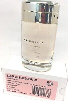 BAISER VOLE BY CARTIER 3.3 oz Eua De Parfum WOMEN'S PERFUME TESTER NEW  (Parfüm Tester)