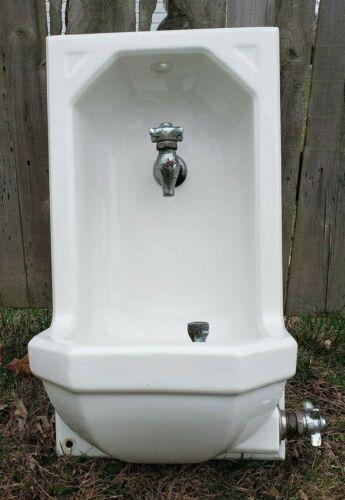 Vintage Standard Drinking Water Fountain BOTTLE FILL Art Deco Porcelain  1935