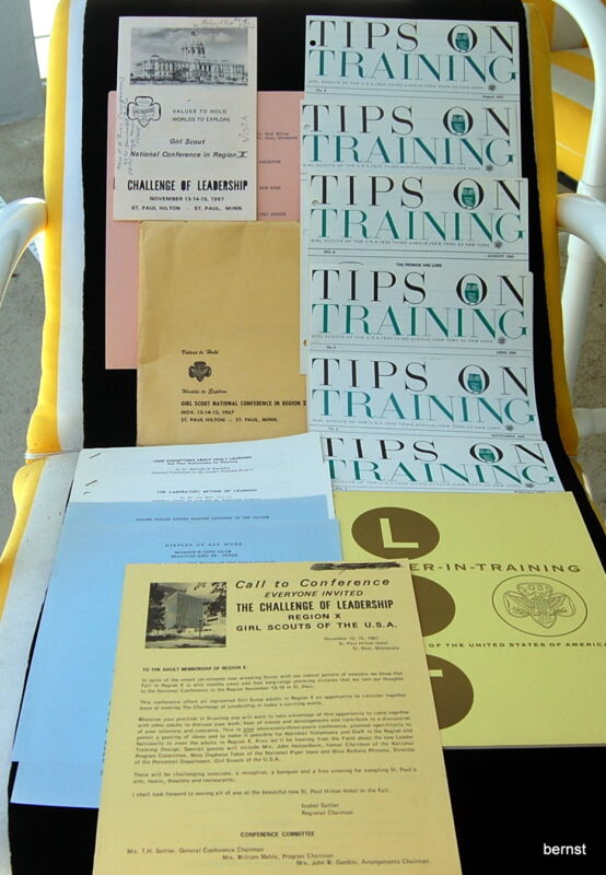 GIRL SCOUT 1967 REGION X NATIONAL CONFERENCE PACKET - ESTATE LIQUIDATION