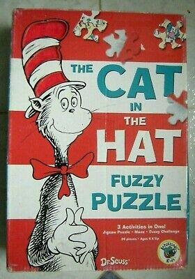The Cat in the Hat FUZZY maze game and puzzle DR SEUSS age 4+  for sale  Shipping to Nigeria