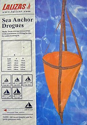 Sea Anchor Drogue Orange Various Sizes - Speed Boat Yacht Sailing - New