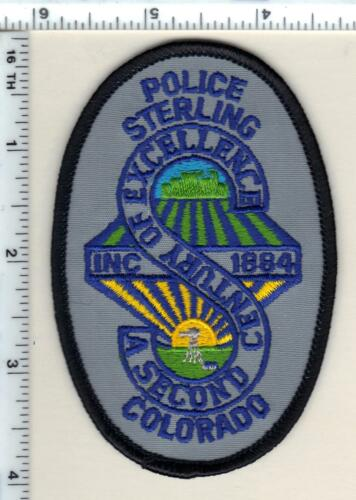 Sterling Police (Colorado) Shirt/Jacket Patch - new from 1989