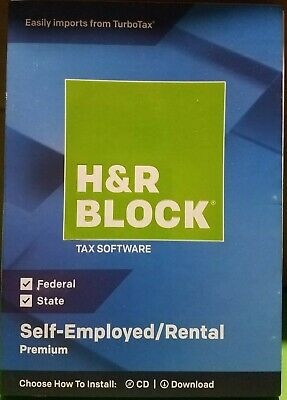 H&R BLOCK Tax Software Premium 2018  BLUE #6445 for sale  Shipping to Canada