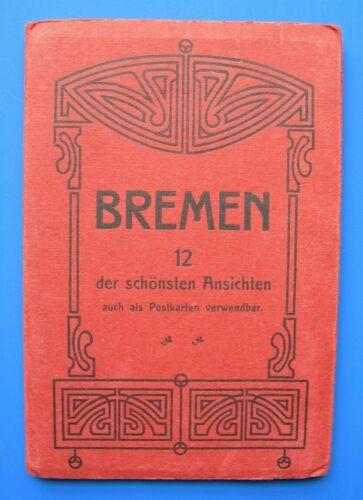 Bremen Germany 12 Postcard accordion booklet