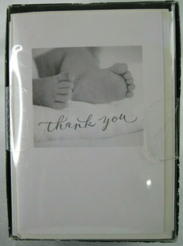 Carlton 50 Count Thank You Cards and Envelopes for Baby