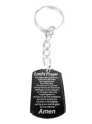 Matthew 6:9-13 Holy Bible Lords Prayer Christian Metal Ring