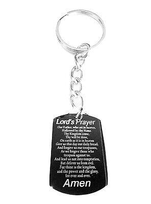 Matthew 6:9-13 Christian Bible Lord's Prayer Metal Ring Key