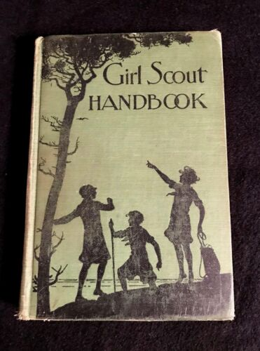Antique Girl Scout Handbook Revised Edition 1929.