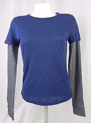NEW Aeropostale Prince & Fox Blue Layered Long Sleeve T-Shirt (F1-6)