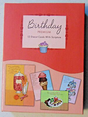 BOX 12 Christian Birthday Greeting Cards, Premium with Bible Scripture Verse](Christian Birthday)