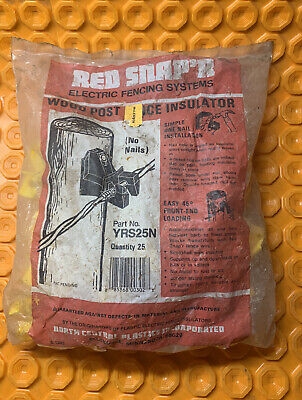 Red Snapper Electric Fence Insulators For Wood Posts Yrs25n Qty25 P3