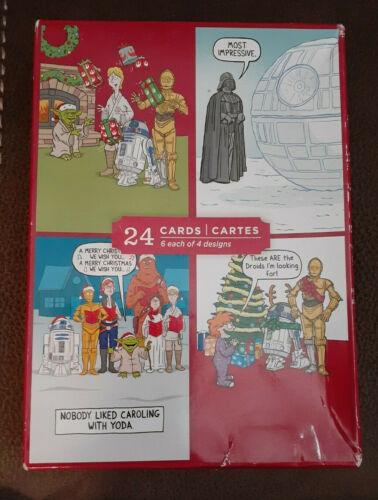 Star Wars Boxed Christmas Cards - 4 Designs - Disney Hallmark Image Arts