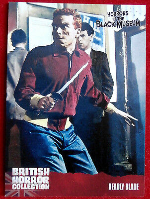 BRITISH HORROR - Card #29 - Horrors of the Black Museum, DEADLY BLADE