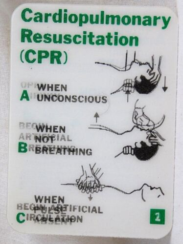 Old Xograph safety card CPR Cardiopulmonary Resuscitation Lenticular 3d Hologram