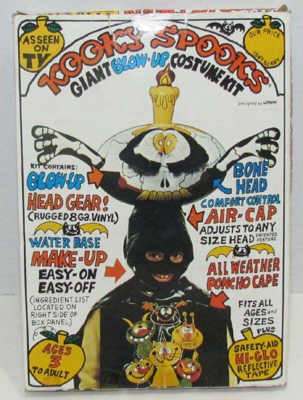 1980 Kooky Spooks Halloween Costume Bonehead
