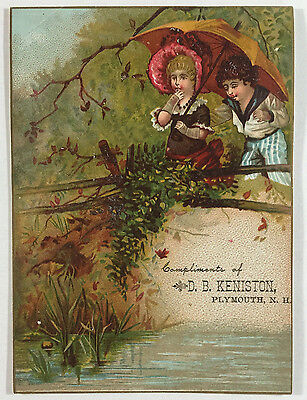 Victorian Trade Card Clothing D B Keniston Plymouth New Hampshire