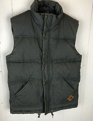 The North Face Men's Newtok Down Vest Size S Gray Blue Flannel lined Winter The North Face Winter Vest