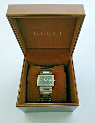 Ladies Gucci 100L Stainless Steel Large G Vintage Watch Swiss Made