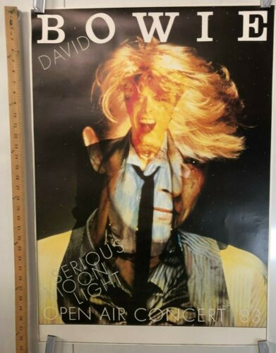 David Bowie Serious Moonlight Concert Poster Open Air 1983 Classic Rock Germany