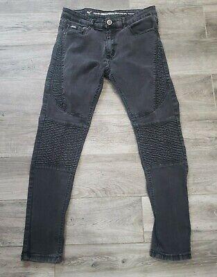 Versace V1969 Italia Abbigliamento Sportivo SRL Stretch Skinny Black Jeans 34x32