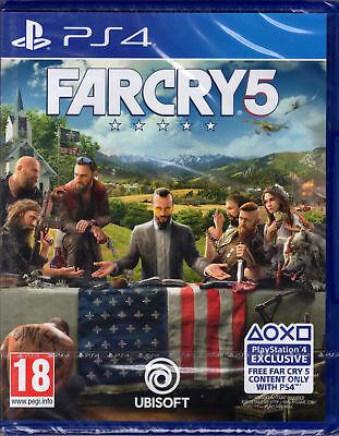 FAR CRY 5,PLAYSTATION 4,PS4,Edizione UK,Inglese,NO Italiano,NUOVO,SIGILLATO