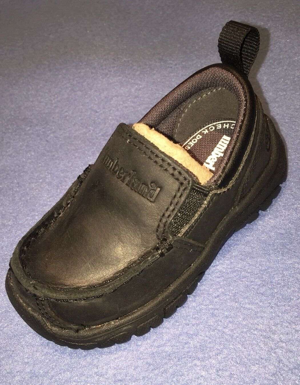New Timberland Toddler Discovery Pass Boys Black Leather Loafers sz 4 US/ 20 EU 1