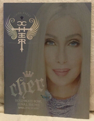 Cher Hollywood Bowl Final Shows 2005 Farewell Tour Deluxe Program - NEW cond.