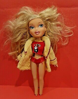 BRATZ ** CLOE** Doll with Yellow Terry Cloth Top and Panda Bear. See Pictures