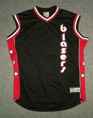 VTG NBA Hardwood Classics Portland Trail Blazers Sewn Jersey Majestic Mens  3XL