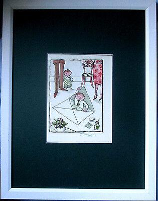 TOMI UNGERER Offsetlitho 19x15 HAND-SIGNIERT , mit Rahmen,