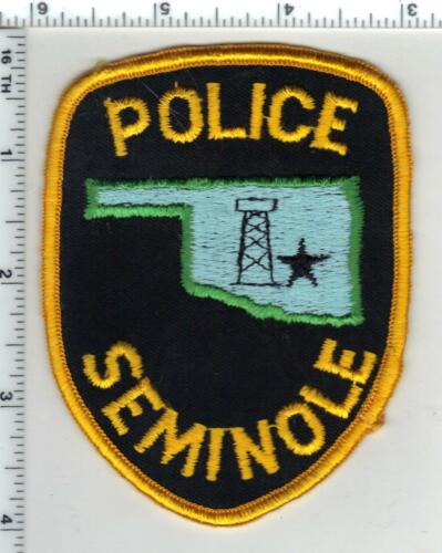 Seminole Police (Oklahoma) 1st Issue Shoulder Patch