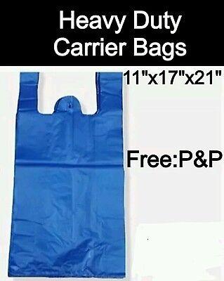Heavy Duty Blue Vest Carrier Bags (850x Approx) 11