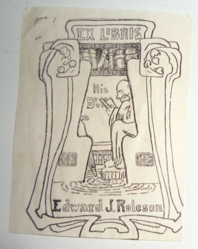 Edward J. Roleson - Ex Libris Bookplate.