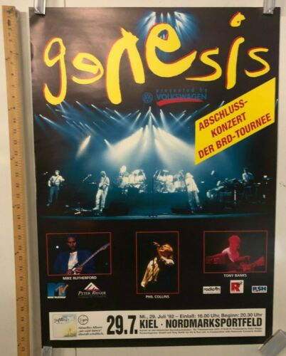 Genesis In Kiel @ Nordmarksportfeld Poster Classic Phil Collins July 1992