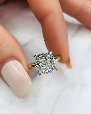 1.00 Ct Cushion Cut Solitaire Diamond Engagement Ring 14K GIA G,VS1 Natural GIA 1