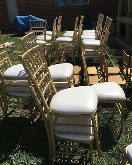 gold tiffany chairs 4 party hire gumtree australia the hills