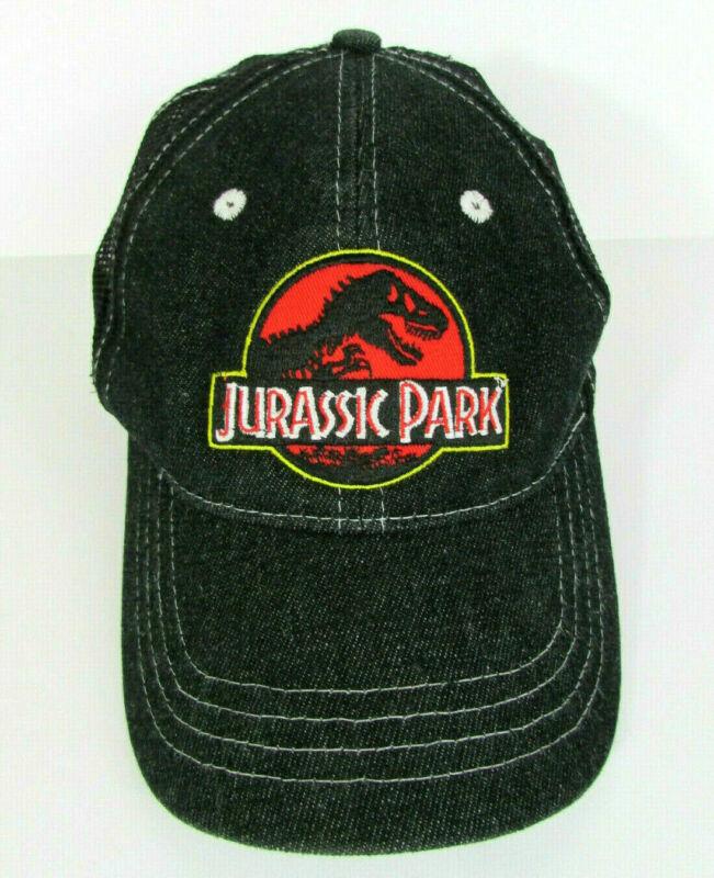 Jurassic Park Baseball Cap -Trucker Hat - Black Mesh/Denim - One Size fits all