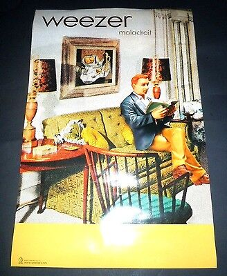 WEEZER~Maladroit~Original Promo Poster~11x17~NM~2002