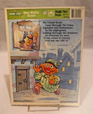 Sesame Street Wee Willie Ernie Frame Tray Golden Puzzle