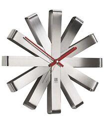 NEW NIP Umbra Ribbon Modern 12 inch Wall Clock Battery Operated Quartz Movement