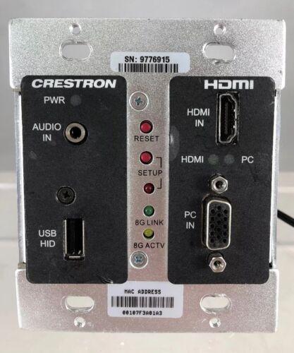 Crestron DM-TX-200-C-2G-B-T Black Wall Plate DigitalMedia Transmitter HDMI    TS
