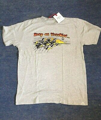 Iron and Resin Keep on Tracking Biker  T-Shirt - Grey XL