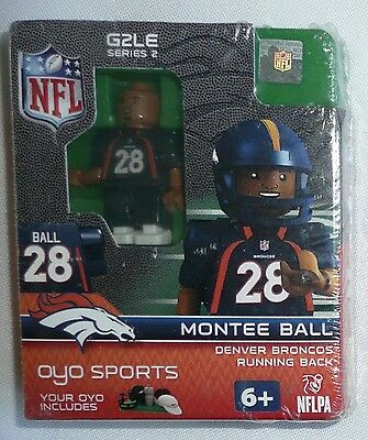 MONTEE BALL LEGO MINIFIGURE Denver Broncos NFL Oyo Sports G2LE Series 2 >NEW<](Denver Nfl)