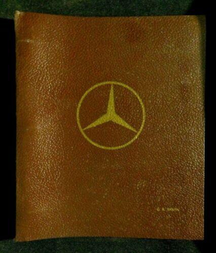 1965 - 1966 MERCEDES BENZ BINDER w/ LETTERS Hoppe & SERVICE BULLETINS car auto