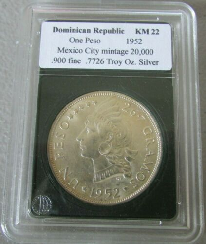 1952 Dominican Republic One Peso