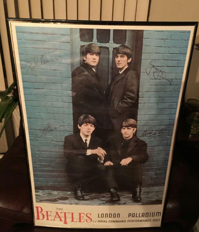 "Beatles 24"" × 36"" Print LONDON PALLADIUM Royal Command Performance - NEMS 1964"