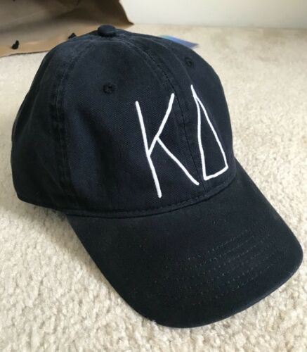 Kappa Delta KD Sorority Baseball Cap/Hat Black Embroidered Adjustable Eta Psi
