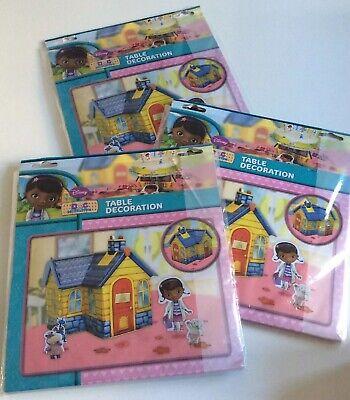 3 x New Disney DOC McSTUFFINS TABLE DECORATION Birthday Party Table Decorations](Doc Mcstuffins Table Decorations)