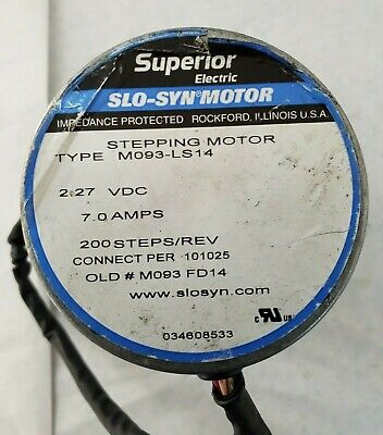 Mo93-ls14 Stepping Motor Slo-syn Motor 2.27vdc 7.0amps Superior Electric