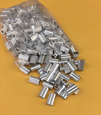 200- 316 Aluminum Cable Crimpssleeves Duplex Sleeve Cable Clamp